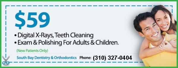 dental-coupon-South-Bay-dentistry Dentists South Bay: Dentist Gardena, Hawthorne, Torrance, Carson, Redondo Beach